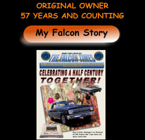 My Falcon Story ORIGINAL OWNER  57 YEARS AND COUNTING